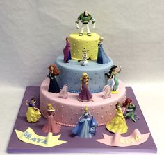 3 Tier Quilted Disney Princess Cake