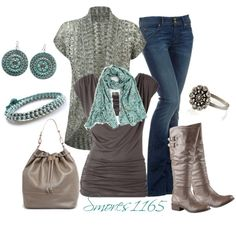 Poppy Print Scarf by smores1165 on Polyvore featuring Hudson Jeans, ALDO, Vivien Frank Designs, Accessorize and Eastex