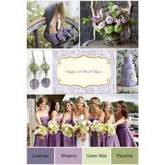 Purple And Green Wedding Ideas found on Polyvore