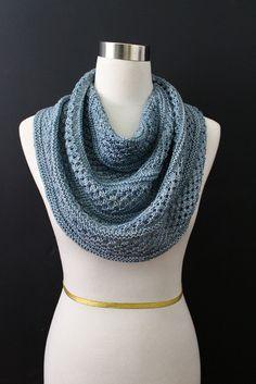 Starshower knit pattern on ravelry. Madelinetosh sock in Denim. Knit by Carol McKenna. Slip Stitch Knitting, Cable Knitting, Knit Cowl, Hand Knitting, Crochet Scarves, Crochet Shawl, Knit Crochet, Knit Shawls, Knitting Designs