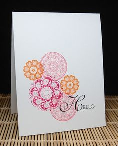 Mama Mo Stamps: Hello  Yes, I know this stamp set isn't Circle Circus!