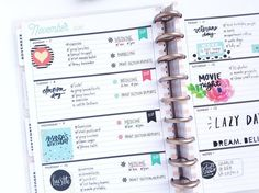 Rose Gold Horizontal layout by mambi Design Team member Michelle Weissert that puts the 'FUN' in FUNctional (! Planner Layout, Planner Pages, Planner Stickers, Planner Ideas, Digital Bullet Journal, Planners, Mini Happy Planner, Planner Decorating, Planner Organization