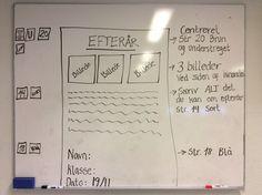 Min 3. Klasse har idag arbejde med at lære programmet Word bedre at kende. Opgaveformuleringen var visuel som på billet. Evalueringen foregår ved, at eleverne selv er med til se og vurdere, om de har de forskellige kriterier i opgaven med... ;-)