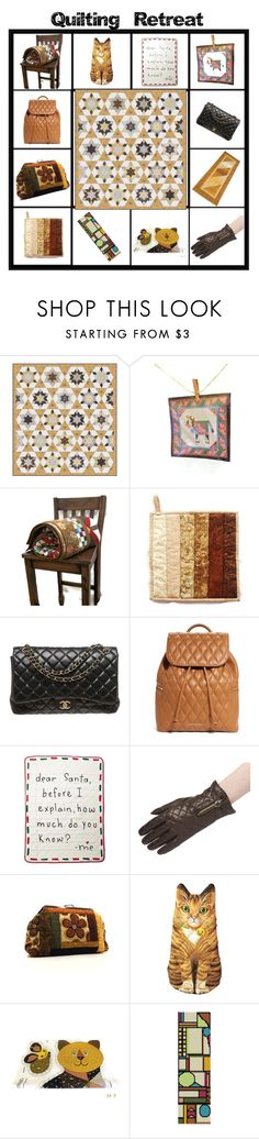 """Quilting Retreat"" by tol-n-tique on Polyvore featuring interior, interiors, interior design, home, home decor, interior decorating, Chanel, Vera Bradley, Gap and Boston Warehouse"