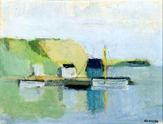 bofransson:  Gustav Rudberg                             Boats in the Harbor  http://alongtimealone.tumblr.com/image/66712816181