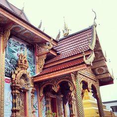 Temple, Chiang Khong, Thailand