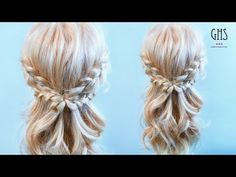 簡単なのに可愛い♡ 三つ編みハーフアップアレンジ - YouTube