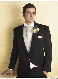 The boys- something very similar, with red rose boutonniere