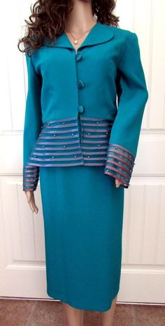 Mother Bride Groom Dress Jacket Set Teal Pearl Beads Gorgeous Trim Rimini Size 6 #Rimimi #DresswithJacket #FormaltoSemiformal