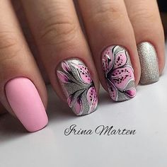 Fails diy pink summer 2015 Ideas for 2019 Floral Nail Art, Pink Nail Art, New Nail Art, Pink Nails, Gel Nails, Pretty Nail Designs, Pretty Nail Art, Beautiful Nail Art, Gorgeous Nails