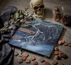 Bear fabric journal, sketchbook, cotton blank book
