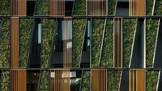 Exterior green wall at the Vertical Living Gallery by Sansiri and Shma in Bangkok