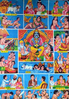 Hindu after-life punishments. Why yes, we need some gory pictures of hell to be pious.