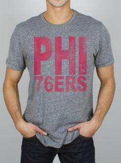 e06c29031011 Junk Food Philadelphia 76ers NBA Tri-Blend T-Shirt - Steel