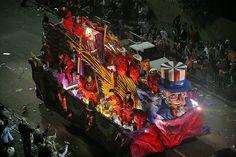 mardi gras celebration in Mobile, Alabama in February of 2008