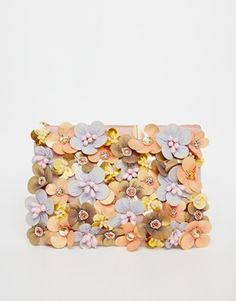 ASOS Flower and Beaded Clutch Bag