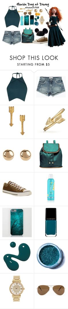 """Merida Day at Disney"" by fashionista7331 ❤ liked on Polyvore featuring Merida, Rebson, Zara, Catherine Weitzman, Bling Jewelry, Jules Smith, STELLA McCARTNEY, Converse, COOLA Suncare and Illamasqua"
