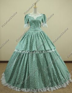 Civil War Southern Belle Floral Print Ball Gown Prom Dress Reenactment 168 M | eBay
