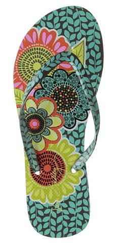 Vera Bradley flip flops - colorful and cute probably have these in 3 different patterns already #mysuitesetupsweepstakes