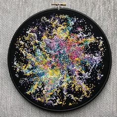 Space embroidery - My universe, 2018 #bystaceyjones .