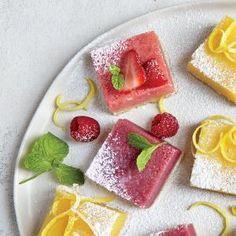 Berry Lemonade Bars | CookingLight.com #myplate #fruit #dairy