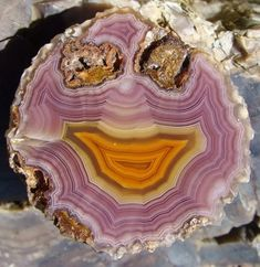 Monday's happy agate face 😊Athena xx❤️ Minerals And Gemstones, Rocks And Minerals, Crystals And Gemstones, Stones And Crystals, Rock Collection, Crystal Collection, Marcasite Ring, Agate Jewelry, Jewellery