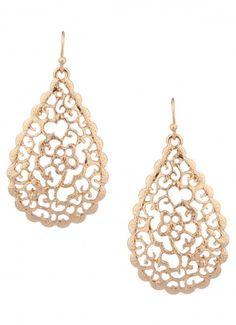 Padua Teardrop Earrings Gold