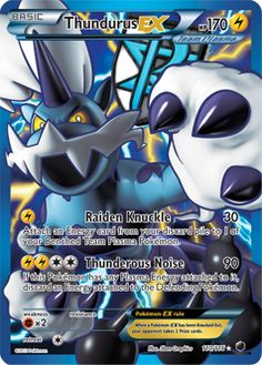 Thundurus Ex Full Art Plasma Freeze Pokemon Card Pokemon Card Memes, Pokemon Tcg Cards, Cool Pokemon Cards, Pokemon Trading Card, Pokemon Stuff, Trading Cards, Dragon Pokemon, Pokemon Dex, Pokemon Full