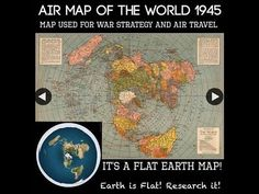 It's a map. There are many different types of maps. Most are flat. The globe is the only map that can accurately and proportionally show the entire world. Terre Plate, Flat Earth Proof, Earth Memes, Hollow Earth, Projection Mapping, Ancient Aliens, Ancient History, Conspiracy Theories, Planet Earth