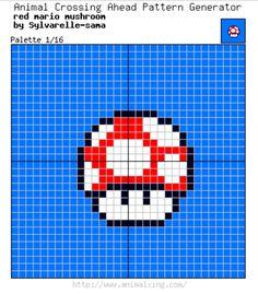 Red Mario Bros. Mushroom_ Palette 1/16