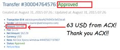 I get paid daily,and i can withdraw daily!EVERY SINGLE DAY!!!! Here is my Withdrawal Proof from AdClickXpress! AdClickXpress is the best online opportunity for all who want meke money online. http://www.adclickxpress.com/?r=vjgrhf23ugw&p=aa
