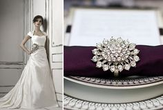 Grey and Plum Decor | White, Silver, Grey and Plum Wedding Inspiration