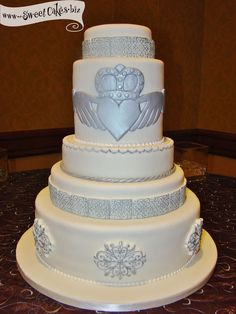 Claddagh Wedding Cake by Sweet Cakes by Rebecca