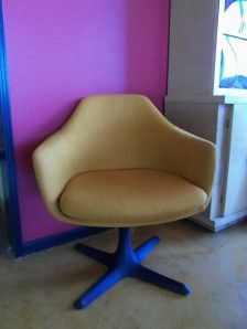 mid-century modern chairs I found at a garage sale