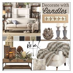 """Decorate with Candles"" by pat912 ❤ liked on Polyvore featuring interior, interiors, interior design, home, home decor, interior decorating, Murphy, OKA, Mercana and interiordesign"