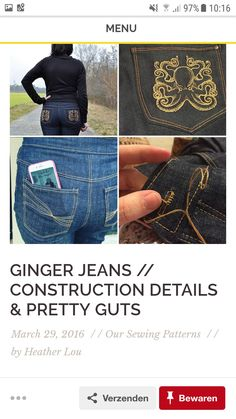 43 Best Making jeans images   Flare leg jeans, Pants, Pockets a594a2f5a8b