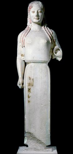 Peplos Kore, c. 530 B.C.E., from the Acropolis, Athens, Greece