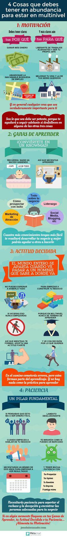 CUATRO COSAS QUE DEBES TENER EN ABUNDANCIA PARA ESTAR EN MULTINIVEL ::