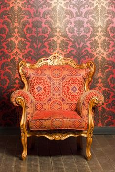 Poster of vintage red-yellow chair with gold accents, Architecture Posters, Chair Photography, Photography Backdrops, Portrait Photography, Studio Background Images, Background For Photography, Background Pictures, Wedding Album Design, Wedding Albums, Wedding Frames