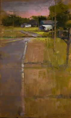 Top of the Hill. Oil and encaustic, 91 x 154 cm (36 x 60 in) Curt Butler