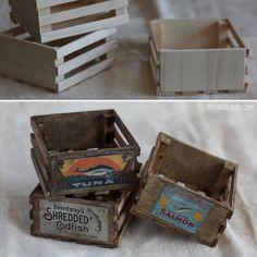 Amanda Louise Spayd's Dust Bunnies — Making miniature props is one of my favorite. Amanda Louise Spayd's Dust Bunnies — Making miniature props is one of my favorite. Dollhouse Miniature Tutorials, Miniature Crafts, Miniature Houses, Miniature Dolls, Diy Dollhouse Miniatures, Miniature Furniture, Dollhouse Furniture, Minis, Muñeca Diy