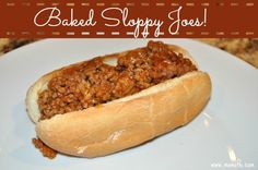 This is a delicious recipe for Baked Sloppy Joes- it's an easy dish to make ahead of time while the kids are in school, and then just finish it in the oven in between after-school activities!