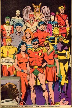 """I kinda miss this version of the Teen Titans.  Robin is probably the only """"non obscure"""" hero in this lineup."""