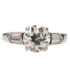 Old European Cut Diamond Engagement Ring   From a unique collection of vintage engagement rings at https://www.1stdibs.com/jewelry/rings/engagement-rings/