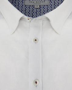 Floral jacquard print shirt - White | Shirts | Ted Baker