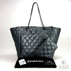 fad29840898b NEW 2018 AUTHENTIC CHANEL WEEK END ON MARS Tote Quilted Metallic Leather  Large #CHANEL #ShoulderBag