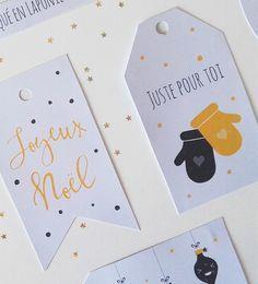 » À imprimer : Les étiquettes cadeaux de noël
