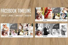 Wedding Facebook timeline cover by Template Shop on @creativemarket