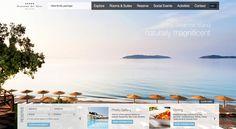 The Best Designs - Web Design Inspiration Hotel Website, User Interface, Travel Tips, Web Design, Gallery, Nature, Digital, Design Web, Naturaleza