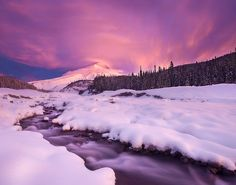 first snow first light, Mt. Hood, Oregon, by Sheldon Nalos